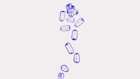 blue pills... Stock Video Footage