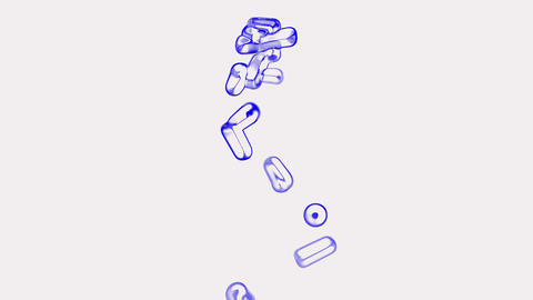 blue pills flying.Bullets,sugar,antibiotic,artery,capsule,chemical,disease,drug,illness,medicine Animation