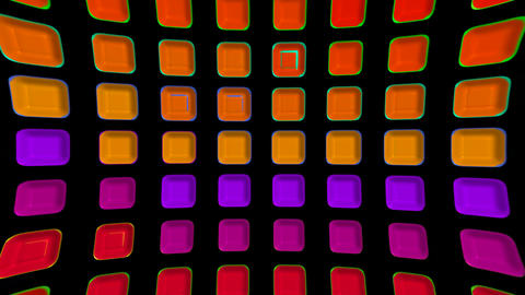 color rectangle matrix disco background.plastic,circle,computer,creativity,engineering,light,machine Animation