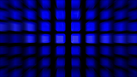 blue rectangle matrix disco... Stock Video Footage