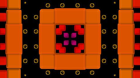 3d color square mosaics fancy... Stock Video Footage