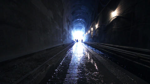Tunnelling 05 Stock Video Footage