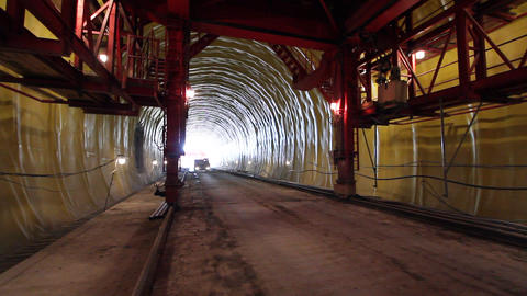 Tunnelling 07 Stock Video Footage