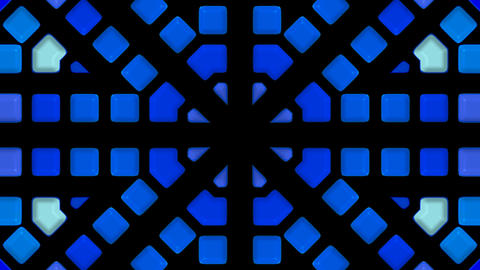 blue glass mosaics block disco pattern,tunnel... Stock Video Footage
