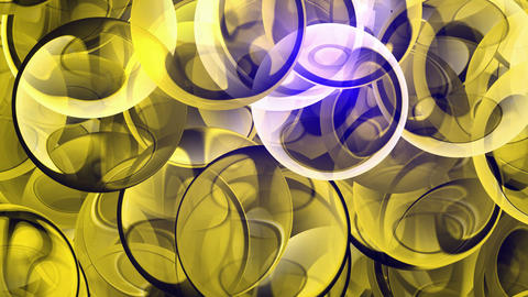 Yellow glass balls and... Stock Video Footage