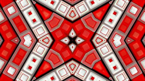 red deform mosaics background.rays,structure,pulse,ripple,disco,electronic Animation