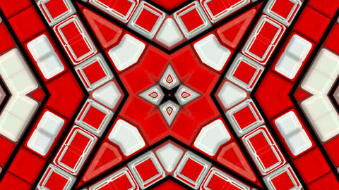 red deform mosaics... Stock Video Footage