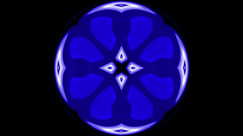 blue deform flower pattern in circle shape.floral,east,retro,kaleidoscope,orient,purity Animation