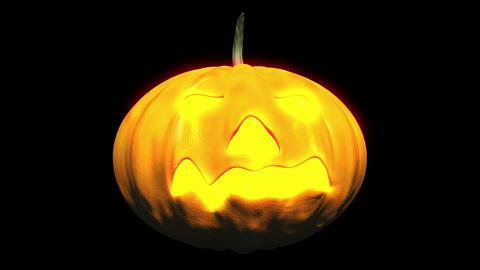 Halloween Pumpkin Head 01 Stock Video Footage