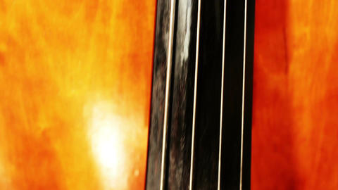 Musician and Double Bass 18 holding instrument tilts Footage