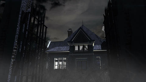 Scary House 02 Stock Video Footage