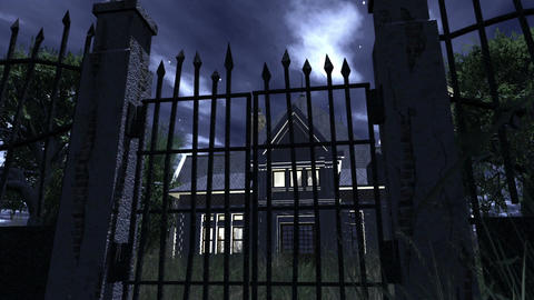 Scary House 04 neutral Stock Video Footage