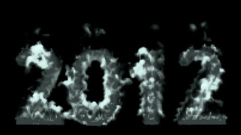 ok_ae_00003happy new year 2012,numbers 2012 burning with... Stock Video Footage