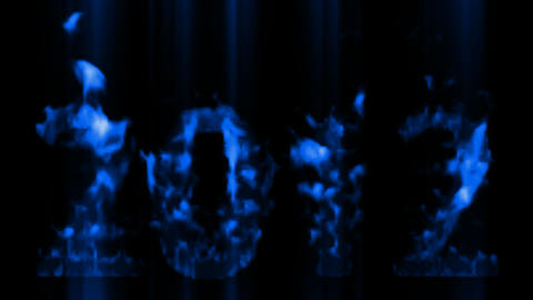 happy new year 2012,numbers 2012 burning with blue flame... Stock Video Footage