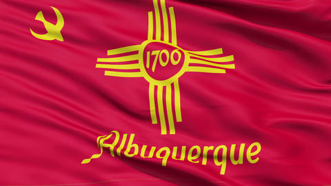 American State City Flag of Albuquerque Animation