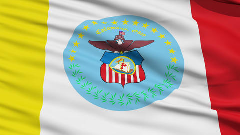 American State City Flag of Columbus Stock Video Footage
