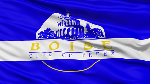 Close Up Waving National Flag of Idaho Stock Video Footage