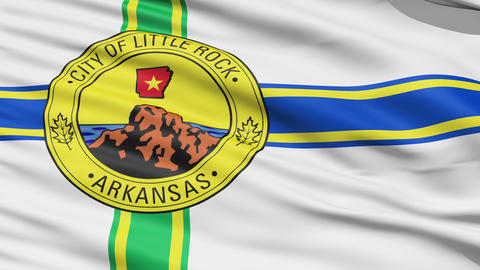 American State City Flag of Littlerock Arkansas Stock Video Footage