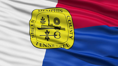 American State City Flag of Memphis Stock Video Footage