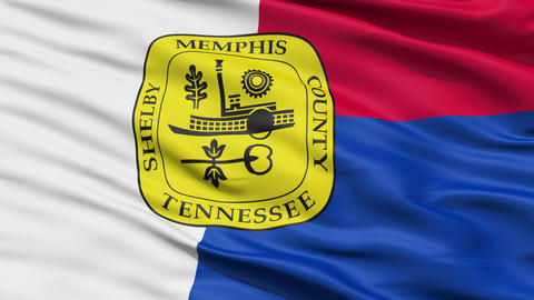 American State City Flag of Memphis Animation