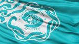 American State City Flag Of Goodwill Seattle stock footage