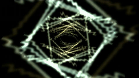 Time Tunnel,blue rotation rhombus sawtooth trails in 3D... Stock Video Footage