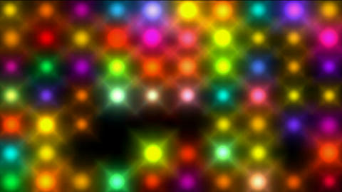 Color circle neon matrix,disco... Stock Video Footage