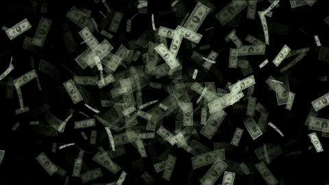 Money animation,Created with hundreds,tens and one dollar bills,bonds,securities,debt,income,wages,s Animation