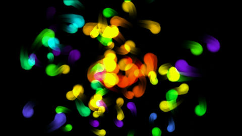 color flying dot... Stock Video Footage