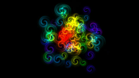 color swirl fancy... Stock Video Footage