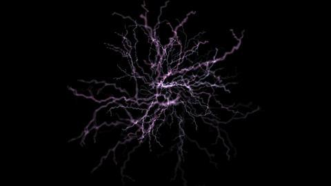 lightning,thunderstorm,generation,plants,nerve,neuron,Exc... Stock Video Footage