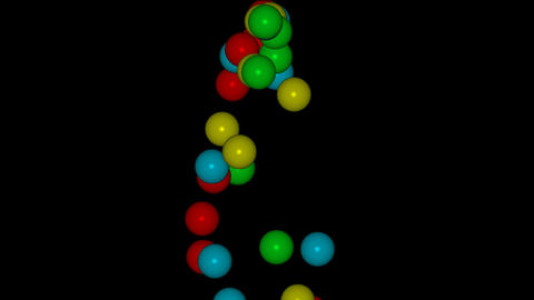3d color balls... Stock Video Footage