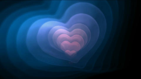 Blue and pink fractal heart,good for valentine's day,heart-rate,onion,family,Fireworks,stage,particl Animation