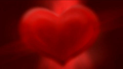 Red hearts with rays,Valentine's... Stock Video Footage