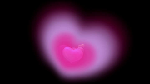 Brightly pink hearts,Good for valentine's... Stock Video Footage