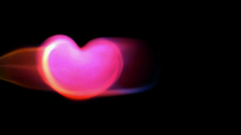 pink heart and light.Led,neon... Stock Video Footage