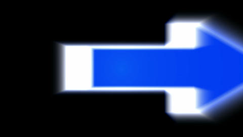 moving blue arrows with blur light.click,connection,cursor,design,direction,icon Animation