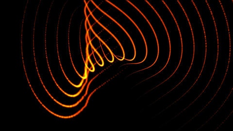 Animation of color spiral light... Stock Video Footage
