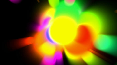 color circle light,neon... Stock Video Footage