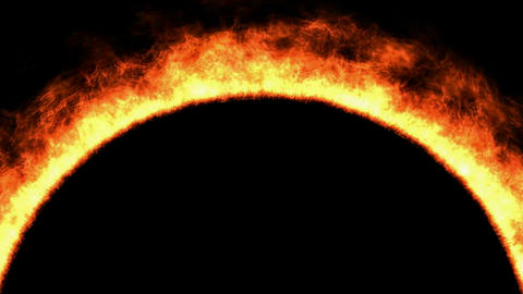 fire,arch shape flame,sun surface... Stock Video Footage