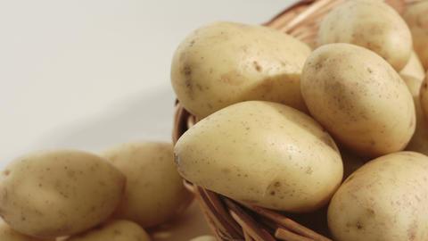 Raw Potatoes stock footage