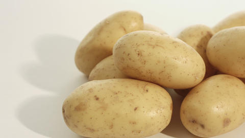 Raw potatoes dolly shot Footage
