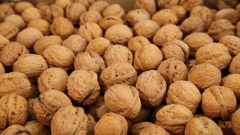 Walnuts, Close Up, Dolly Shot stock footage