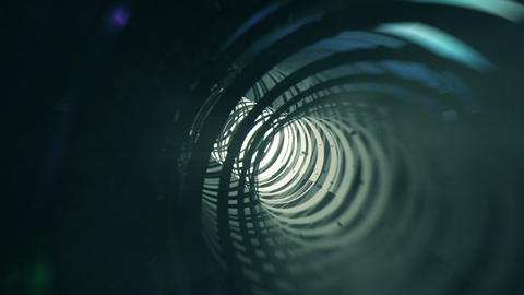Journey through high tech tunnel Stock Video Footage