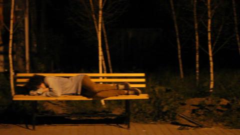 A man fell asleep on the street Live Action