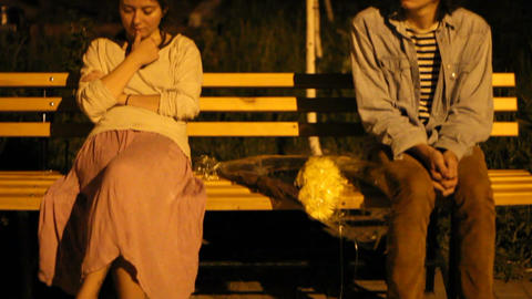 The first date of the teens Stock Video Footage