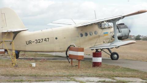 Ukrainian Airplane stock footage