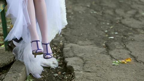 Feet of bride and groom Footage