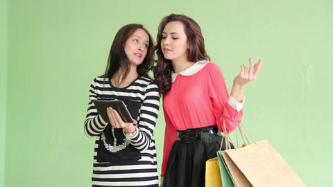 1720 Shopping And Tablet stock footage