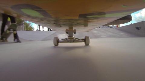 CAMERA UNDER THE SKATEBOARD: Skateboarding in a sk Live Action